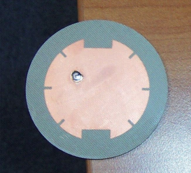 Vue axiale de l'antenne